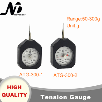 цена на Free Shipping 300g Dial Tension Gauge Analog Tensiometer Tension Tester Single Needle Double Needles