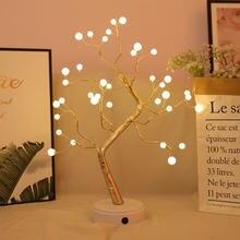 Ночсветильник светодиодный жемчужное дерево (36 светодиодный)/огненное