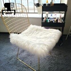 Nordic Golden Iron Hollow krzesło stołek stołek barowy do jadalni Office Home z poduszką wełnianą 100/50*50cm na