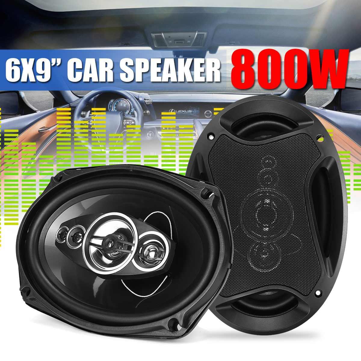 800W 12V voiture haut-parleur Subwoofer paire 2 voies HIFI voiture Coaxial haut-parleur Tweeter stéréo Surround voiture haut-parleur