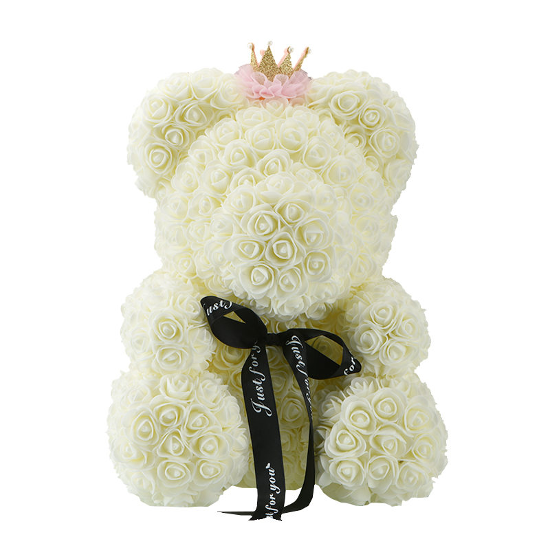 Image 4 - 2019 Wholesale Cheap 40cm Red Bear Rose Teddy Bear Rose Flower Artificial Decoration Christmas Gifts for Women Valentines Gift-in Artificial & Dried Flowers from Home & Garden