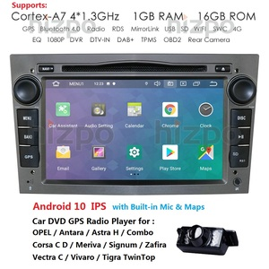 2 Din Android 10 IPS Car DVD Player GPS For Opel Astra H Meriva Vectra Antara Zafira Corsa C D Vivaro Veda Vauxhall Multimedia