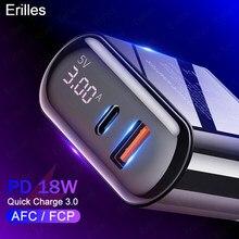 PD для быстрой зарядки Quick Charge 3,0 led USB зарядное устройство для iphone 12 зарядный адаптер для xiaomi mi 10 Samsung мобильных телефонов зарядные устройства