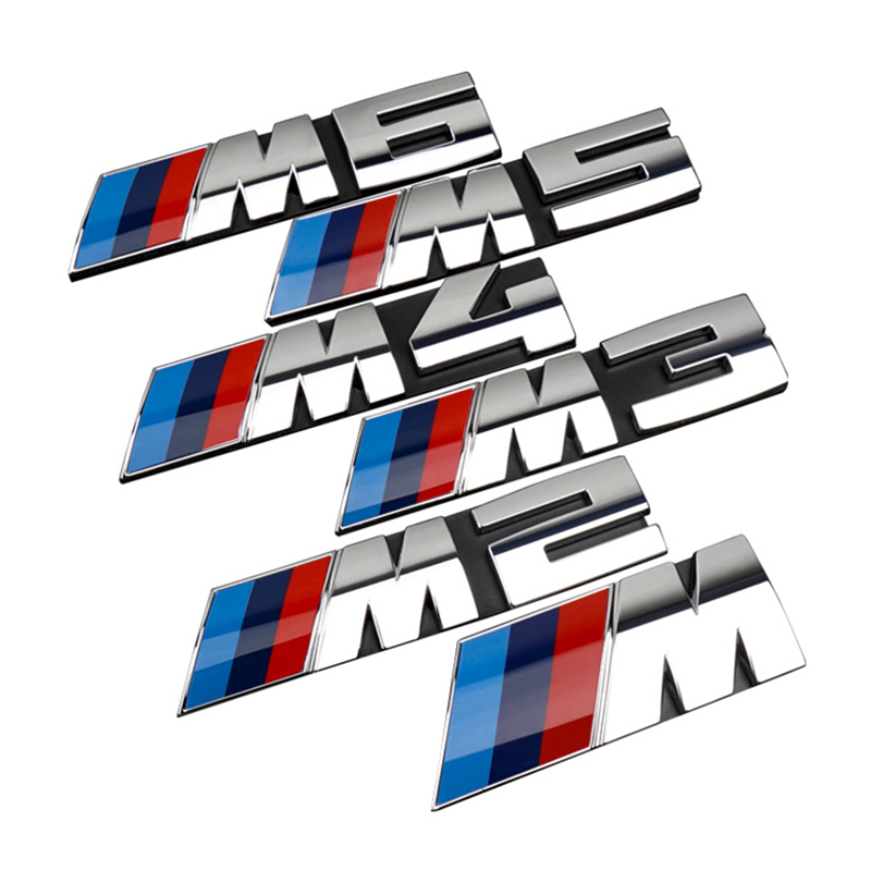 Car Front Grille Decoration Emblem Trunk M 3D Badge Decals Stickers Accessories For BMW M2 M3 M4 M5 M1 X1 X3 X5M X6M