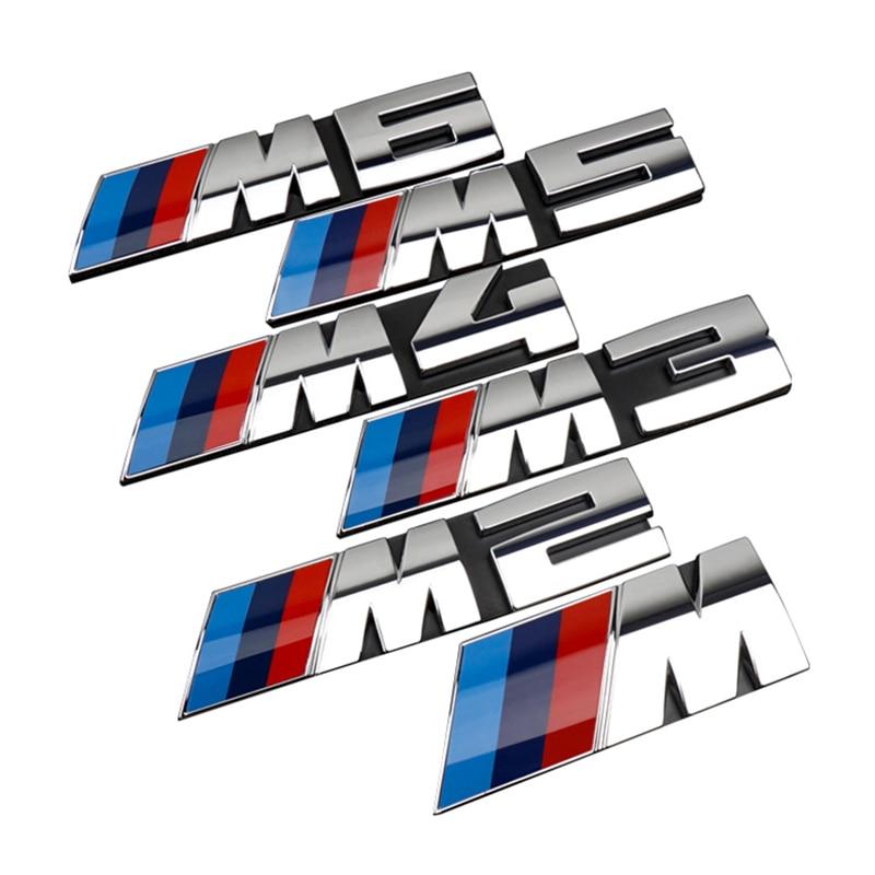 Car Front Grille Decoration Emblem Trunk M 3D Badge Decals Stickers Accessories For BMW M2 M3 M4 M5 M1 X1 X3 X5M X6M