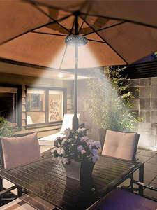 LEDGLE Tent Light Lamp Lantern Patio Umbrella Parasol Outdoor-Poles USB Garden Beach
