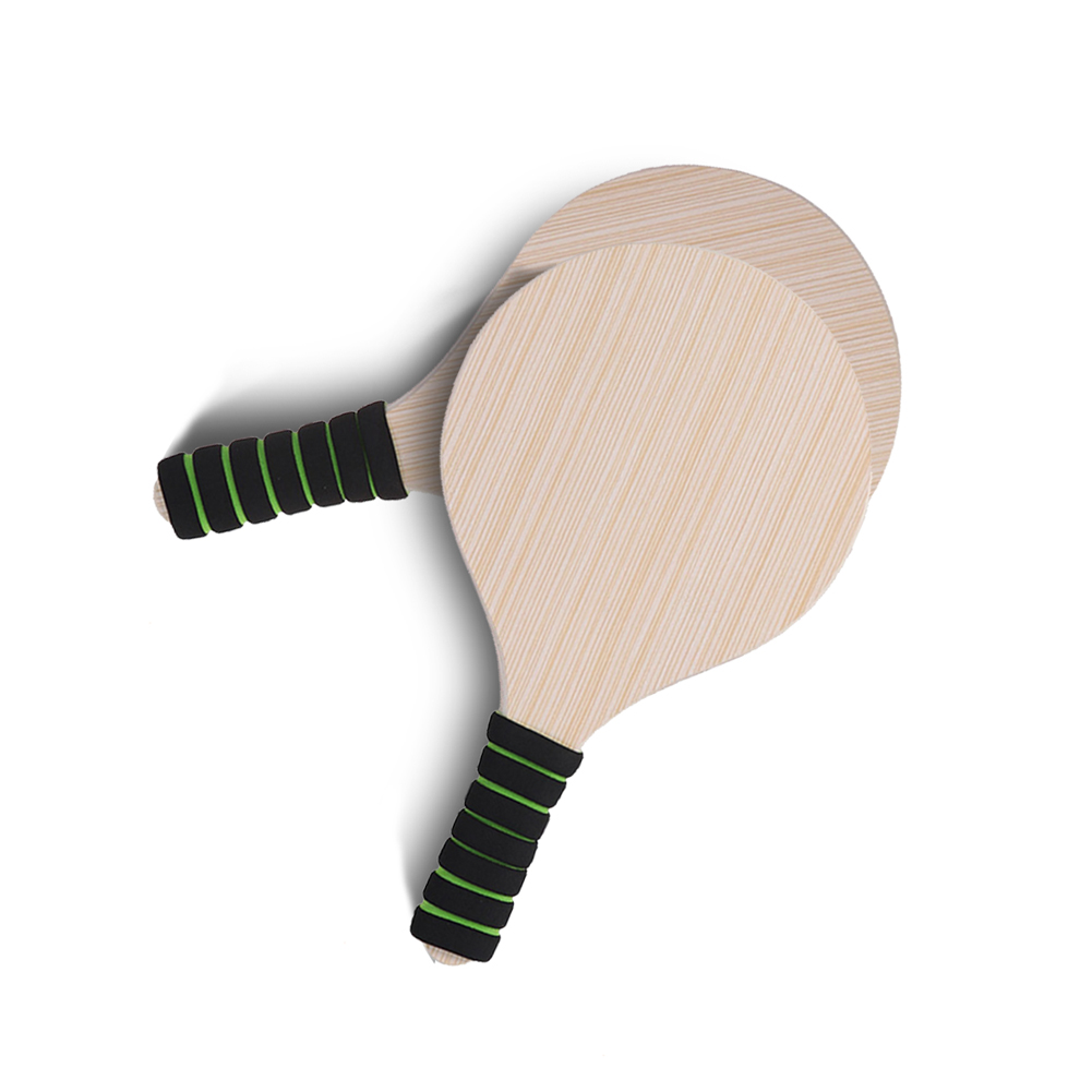 Racquet Set Foam Handles Pingpong Kids Anti-slip Wooden Outdoor Beach Accessories Adults Game Cricket Badminton Paddle Ball