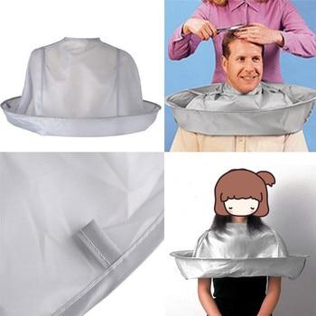 2020 DIY do włosów cięcia płaszcz parasol stylizacji płaszcz Wrap Salon fartuch fryzjerski Cape fryzjerstwo fryzjer wodoodporny fartuch tkaniny