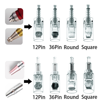 10/20/50 pcs Bayonet Screw Microneedling Tattoo Cartridge Needles Microneedle For Permanent Makeup Auto Pen Needle Mesotherapy