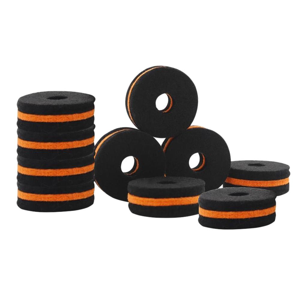 10 шт. черный Cymbal стенд пены Felts шайбы для барабанного набора Запчасти Аксессуары