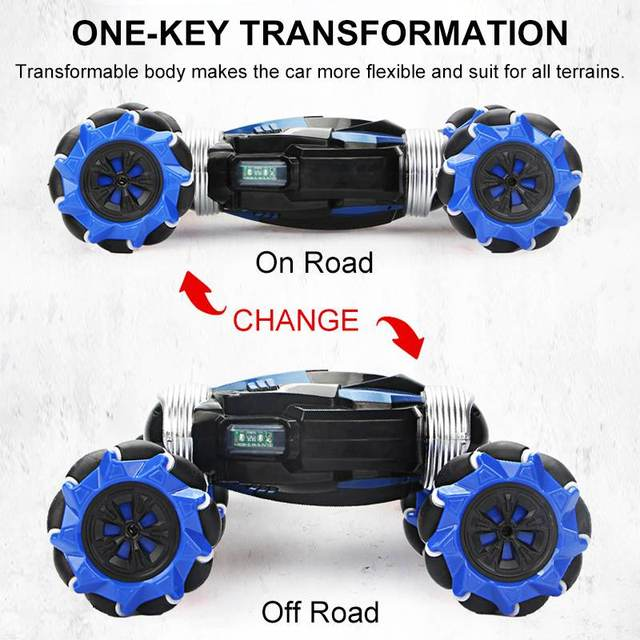 2.4GHz 4WD RC Car Radio Gesture Induction Music Light Stunt Twist Remote Control Car Road Drift Vehicle RC Gifts for Children 5
