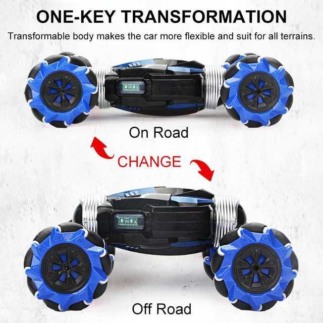 2.4GHz 4WD RC Car Radio Gesture Induction Music Light Stunt Car Road Drift Vehicle RC