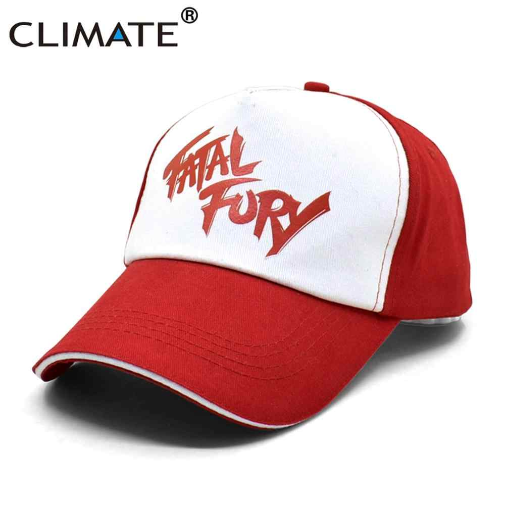 Clima Terry Bogard Cap Fury Fatale Cappello di The King Of Fighters Trucker Cap Cosplay Coser Berretto di Cotone Del Cappello Caps per uomini Cosplay