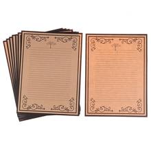 Бумага для письма, канцелярские принадлежности для поделок, офисные принадлежности, 8 листов/набор, Европейский Винтажный стиль