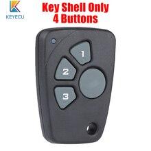 KEYECU 10PCS/Lot Remote Key Shell Case Cover 4 Buttons for Chevrolet Cruze Spark Onix Silverado Volt Camaro