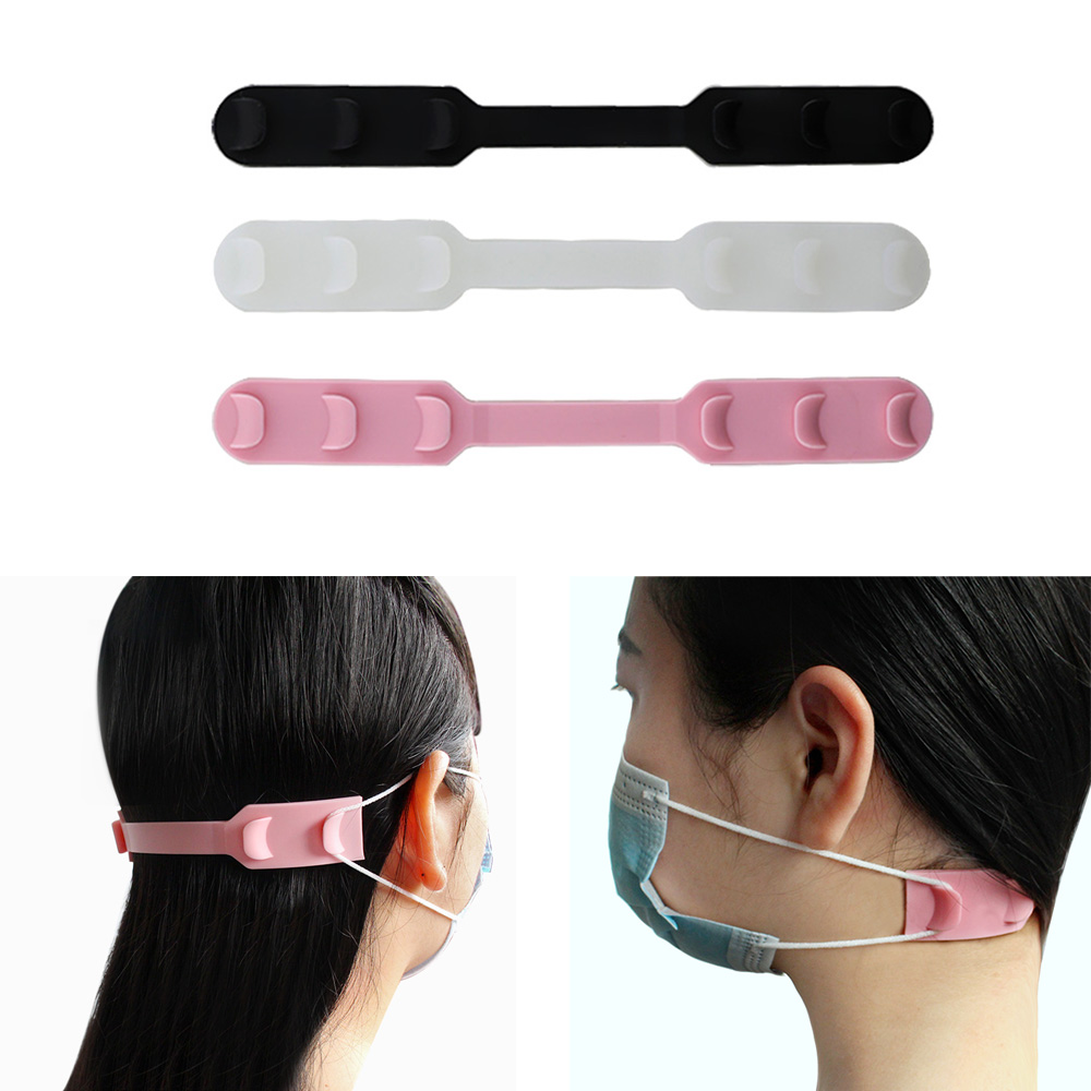 Silicone Fixing Buckle Band Extension Face Mask Ear Hooks Non Slip Anti Lock Soft Silica Gel Face Mask's Friend