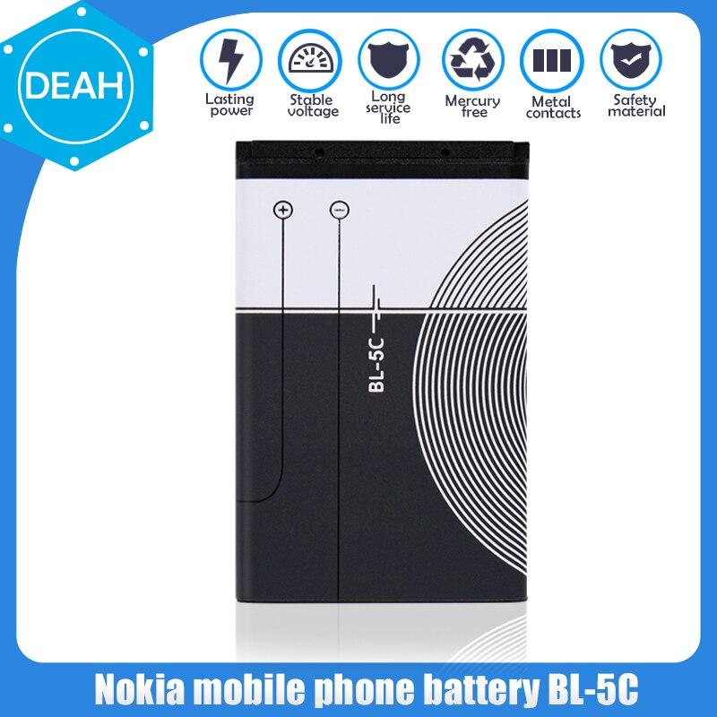 1 sztuk BL5C BL-5C BL 5C 3.7V bateria litowo polimerowa do telefonu Nokia 1100 1110 1200 1208 1280 1600 2600 2700 3100 3110 5130 6230