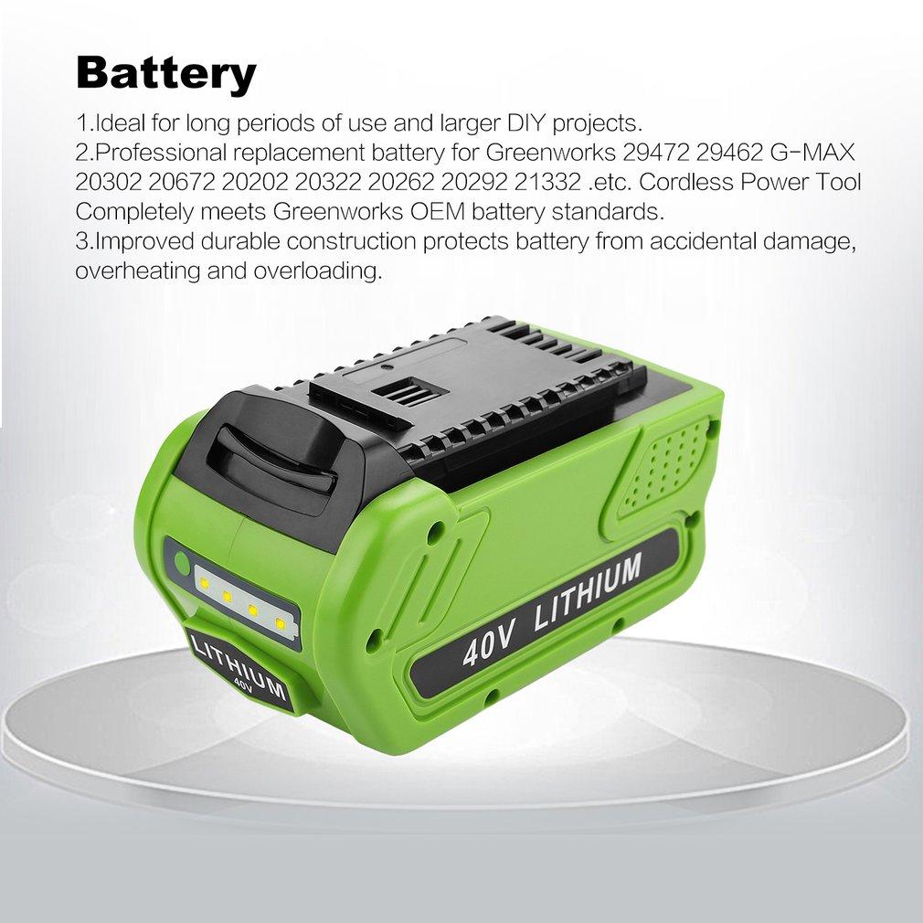 For GreenWorks G-MAX 40V Li-ion Battery Charger 21242 29472 29462 25322 21332