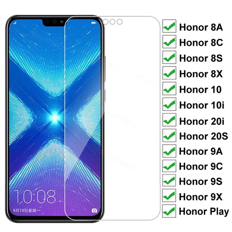 9D Защитное стекло для Huawei Honor 8X 8A 8C 8S 9A 9C 9S 9X закаленное стекло для экрана с защитой от взрывов Honor 10i 20i 20 секунд воспроизведение Защитная пленк...