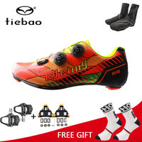 Tiebao New Men Carbon Sole Road Bike Shoes Outdoor Ultralight Bike Bicycle Shoes Non slip Soft Cycling Shoes sapatilha ciclismo