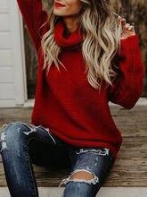 Нечеткий свитер с узором в виде спирали Толстая линия длинным