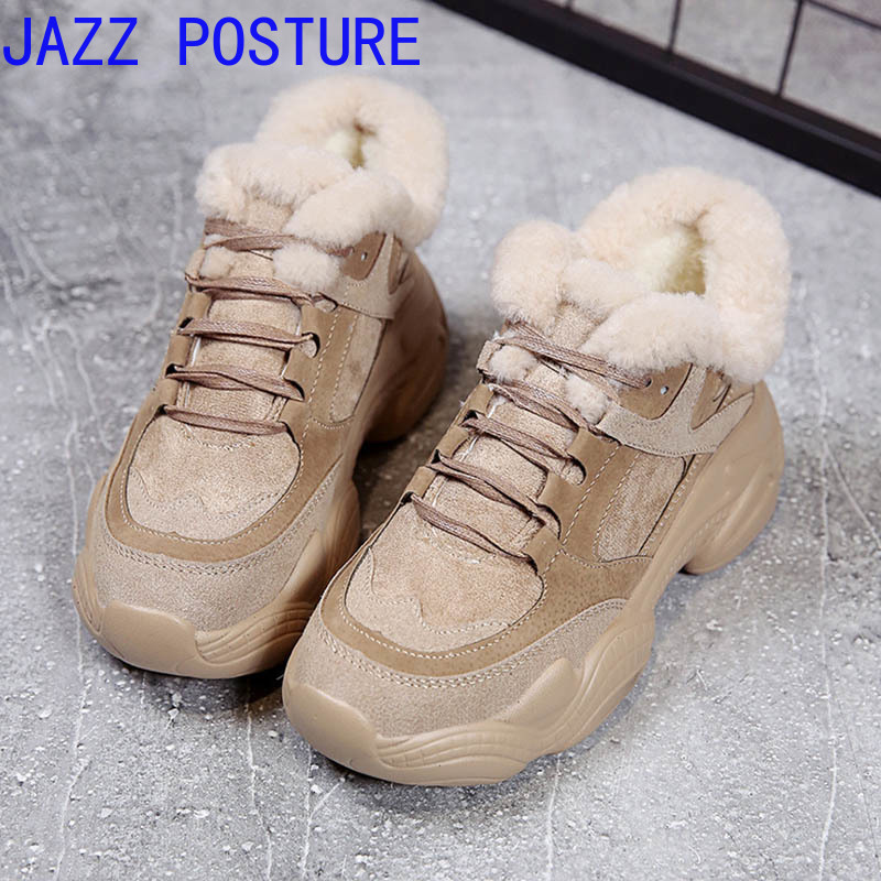 Hot Women's Shoes 2019 Classic Suede Ladies Winter Sports Shoes Warm Plush Insoles Ankle Boots Women's Shoes Q343