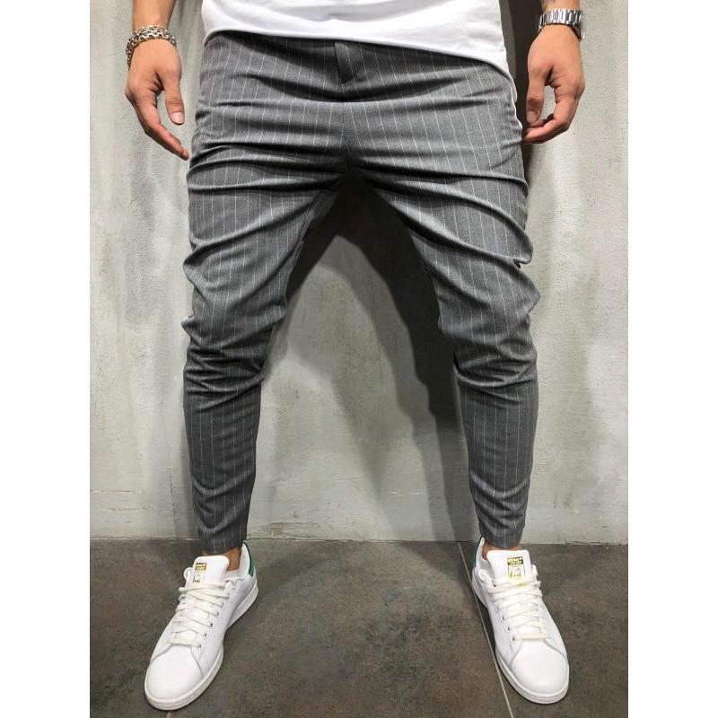 Nova moda masculina joggers calças hip hop