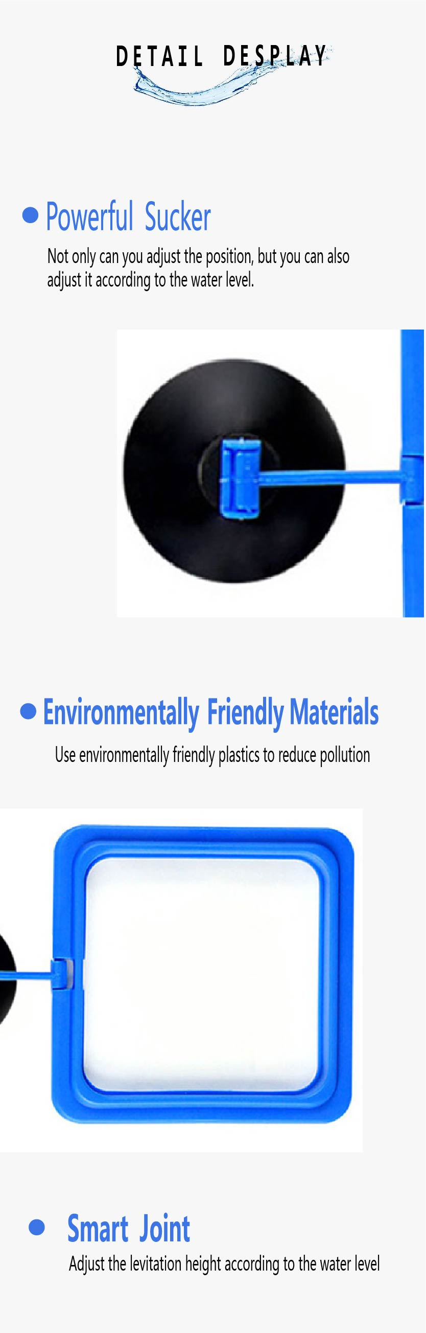 New Aquarium Feeding Ring Fish Tank Station Floating Food Tray Feeder Square Circle Accessory Water Plant Buoyancy Suction Cup 2 10
