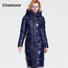 CINEMORE 2020 Winter new collection down jacket women dark color thick cotton outerwear high quality long warm winter coat A005