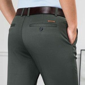 Image 5 - NIGRITY nuovi pantaloni Casual da uomo Casual pantaloni da lavoro tasche dritte regolari pantaloni classici pantaloni elasticizzati uomo taglia grande 28 42