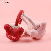 USPOP 2019 New Earmuffs women cute bear fluff earmuffs  female winter ear protectors