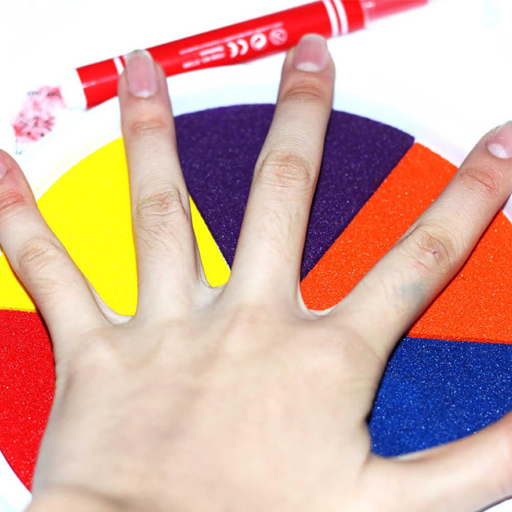 Pintura do dedo desenho a óleo baseado inkpad selo impressão digital scrapbooking crianças brinquedo adequado para fazer brinquedos de pintura à mão