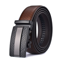 2019 NEW Automatic buckle Fashion Men leather belt