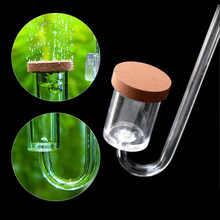 Acrílico transparente co2 difusor ventosa fixação atomizador bolha contador aquário co2 plantas regulador de grama água
