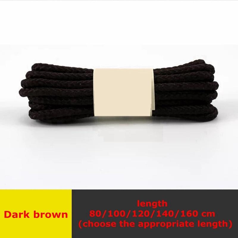 1 пара классические круглые шнурки Уличная обувь для прогулок на шнурках с белой высокой плотностью ткацкие кроссовки для отдыха шнурки унисекс - Цвет: Dark brown
