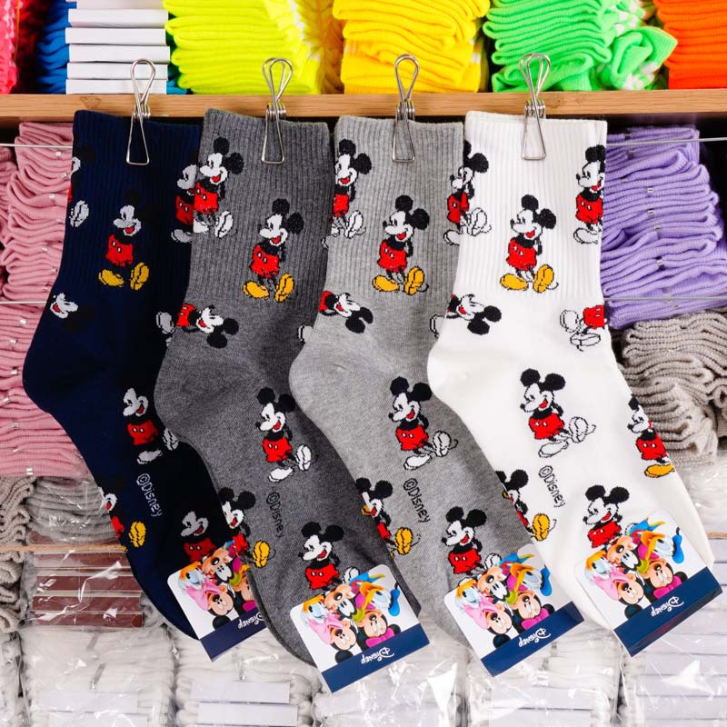 Disney adult socks Mickey Mouse sweet socks adult fashion wild thread cotton socks ladies 2