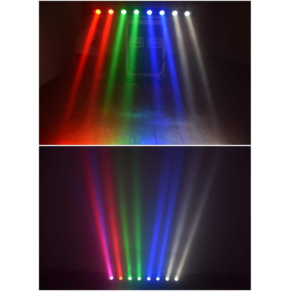 Dj lumière 8x12W RGBW 4in1 faisceau LED tête mobile DMX stade lumières équipement d'éclairage professionnel avec étui de vol (2 pcs/lot) - 5