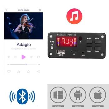 Bluetooth5.0 Módulo de placa de decodificação MP3 Carro sem fio USB MP3 Player Slot para cartão TF / USB / FM / Módulo de placa de decodificação remota 1