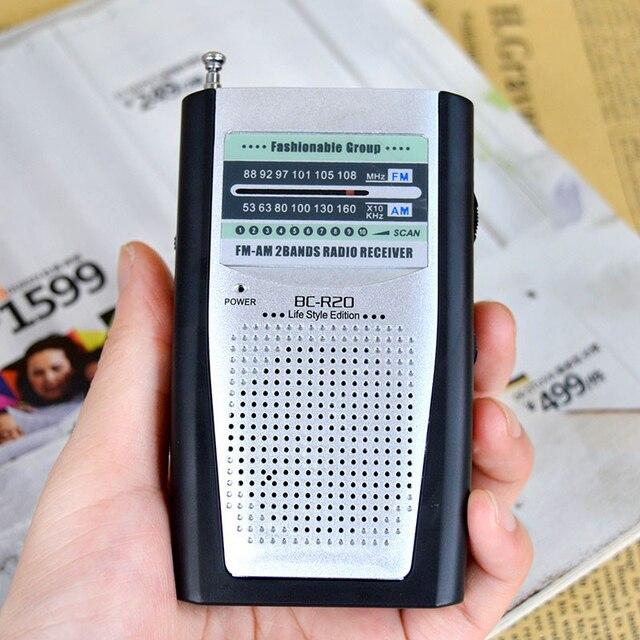 נייד רדיו מיני AM FM טלסקופי אנטנת רדיו כיס עולם מקלט רב תכליתי מיני רדיו