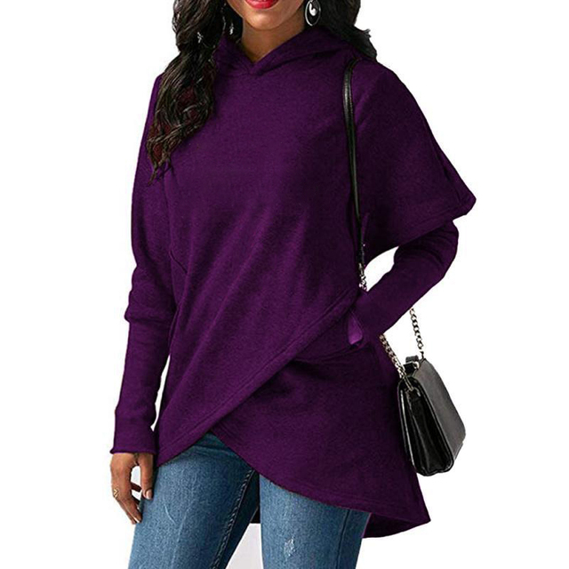 Plus Size Pocket Pullover Casual Warm Hooded Sweatshirt 4