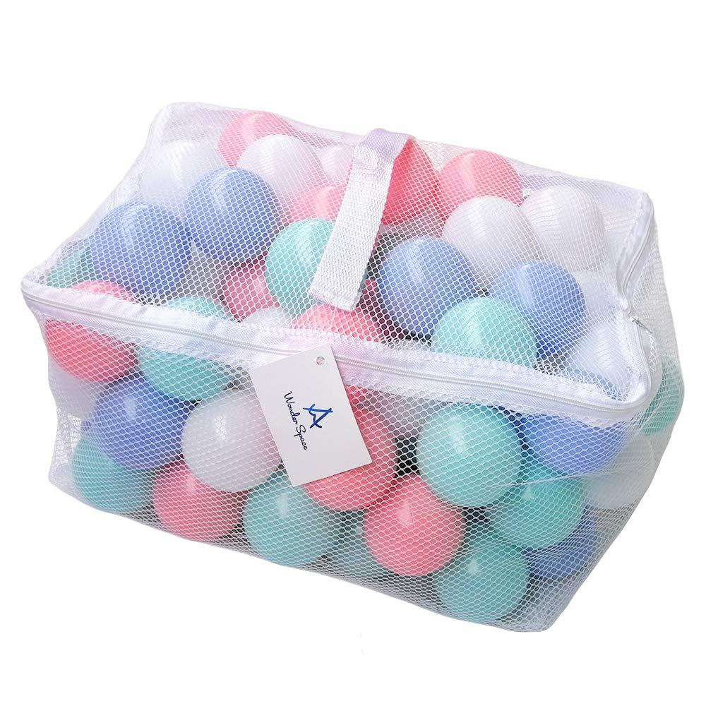 100 pçs do bebê tamanho das mãos plástico pit balls materiais seguros pouco crianças misturar cor pastel jogar bola pacote colorido piscina brinquedo macio presente