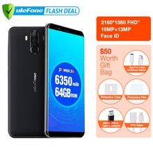 "Ulefone כוח 3S 6.0 ""18:9 FHD 4G Smartphone MTK6763 אוקטה Core אנדרואיד 7.1 4GB + 64GB 16MP 4 מצלמה 6350mAh טביעת אצבע פנים מזהה"
