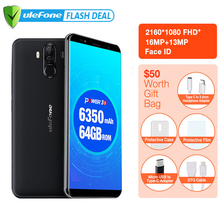"Ulefone Power 3S 6.0"" 18:9 FHD 4G Smartphone MTK6763 Octa Core Android 7.1 4GB+64GB 16MP 4 Camera 6350mAh Fingerprint Face ID"