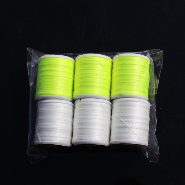 6 colors 150D Luminous Fly Tying Floss Thread Polyester Filament Yarn Materials