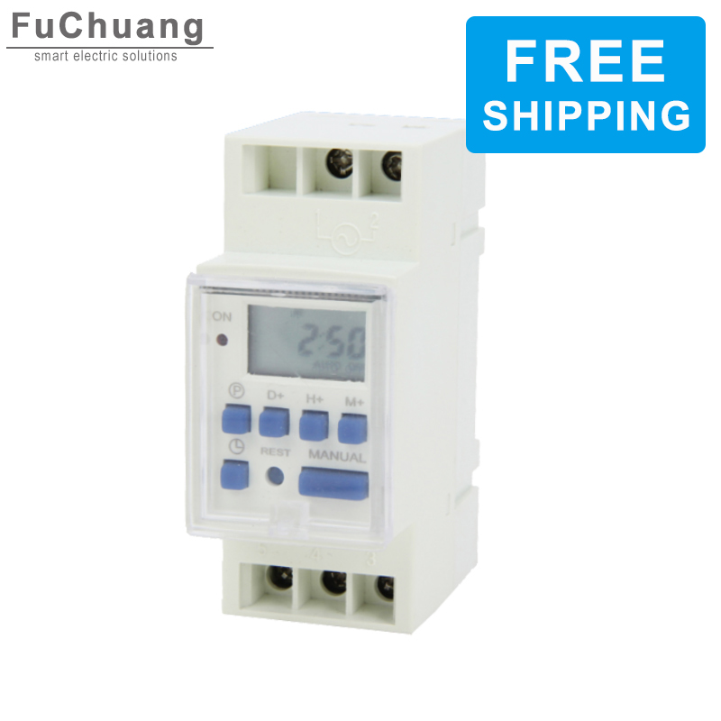 Digital Timer Switch THC15B 5000W 30A Weekly Programmable Time relay 12V 24V 48V 110V 220V for Control street lamp|Switches|   -
