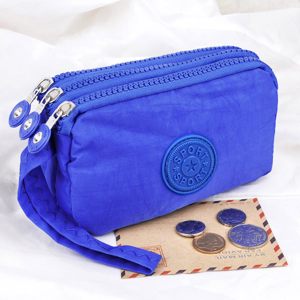 3 Zippers Lady Purses Women Wallets Brand Clutch Coin Purse Cards Keys Money Bags Canvas Short Woman Girls Wallet Handbags Burse