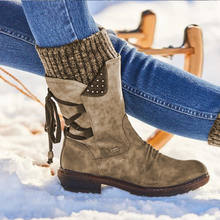 Женские замшевые ботинки на шнуровке теплые уличные вязаные