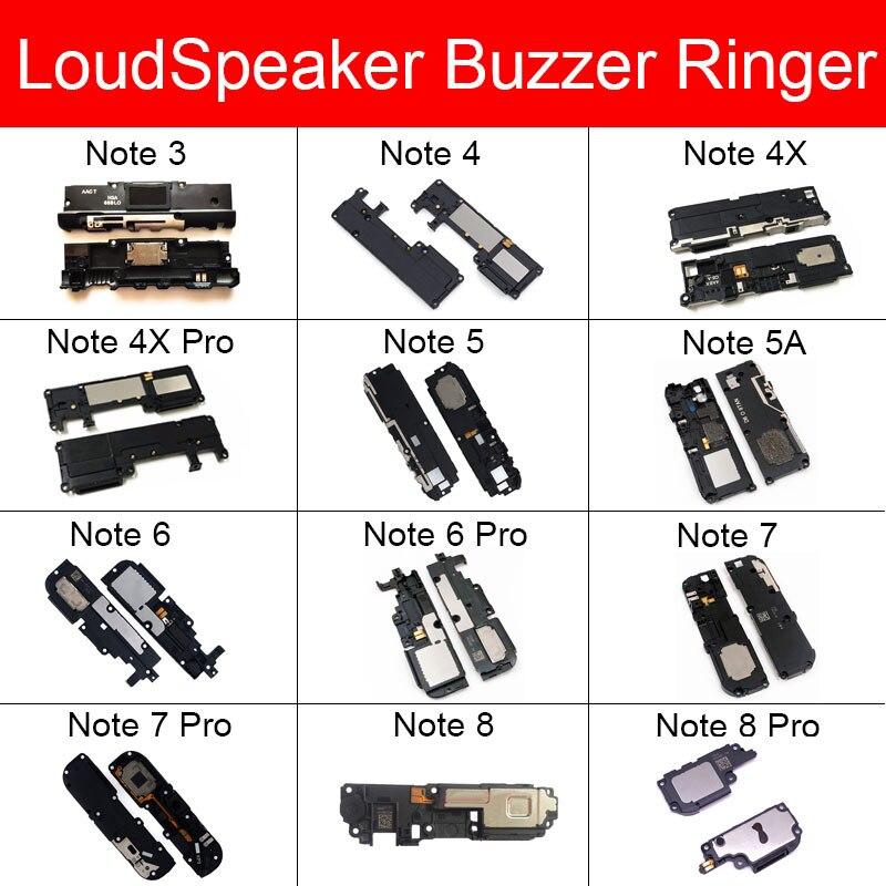 Loudspeaker Ringer Module For Xiaomi Redmi Note 3 4 4X 5 5A 6 6Pro 7 8 Pro Loud Speaker Buzzer Flex Cable Replacement Parts