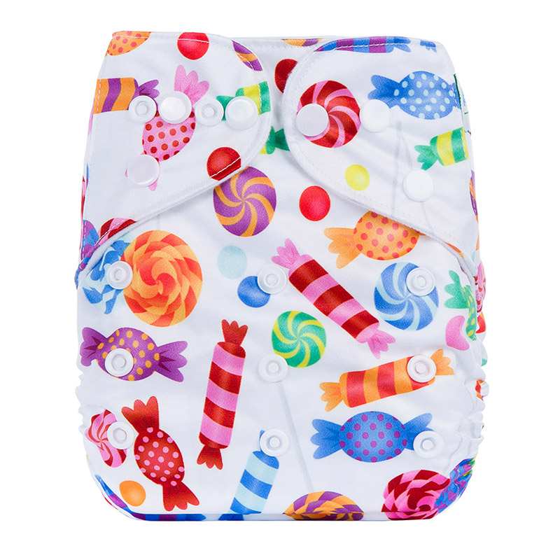 Biodegradable Washable Baby Diapers All In One Reusable Bamboo Cloth Nappy P13