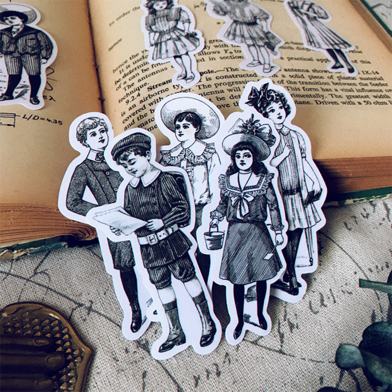 Vintage European Aristocratic Teenager Series Sticker DIY Scrapbooking Junk Journal Album Diary Happy Planner Decoration Sticker